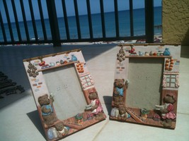 "2 Teddy Bear Family Ceramic Picture Frames for 5"" x 4"" Photos - $59.99"