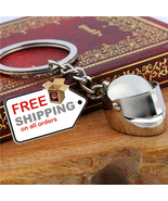 Motorcycle Casque Helmet Keychain Chain Zinc Alloy Trendy Keyring For Car - $8.55