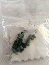 green stone earrings - $18.99