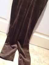 brown velour pattern pants size 12 by designer Liz Claiborne - $64.99
