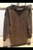 Woman's Gold & Black Size Xl Sparkling Knit Top - $44.99