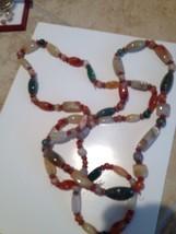 single or double strand multicolored stone Necklace - $64.99