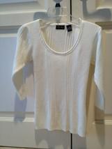 chelsey cream knit top long sleeve scoop neck size medium - $39.99