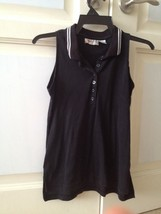 Cristina Size Large Sleeveless Black Top - $19.99