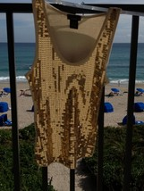 stunning gold sequin top by vixen size medium - $24.99