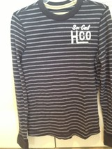 hollister long sleeve so soft striped blue & white shirt size small so. cal hco - $29.99