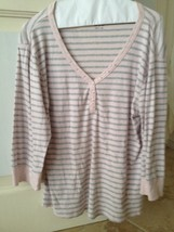 Pink And Gray Womans Top By Faded Glory Size Xl beautiful condition - $24.99