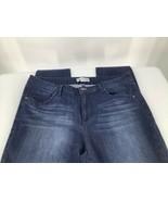 Artisan NY Women 14 Jeans Skinny Dark Blue Wash Stretchy Whiskered - $15.88