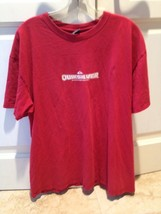 Quiksilver Red Short Sleeve Tshirt Size Extra Large , Quiksilver Graphic On Back - $20.00