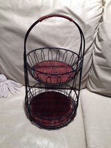 """Double Basket Stand Approximately 18"""" X 10"""" Beautiful Condition - $49.99"""