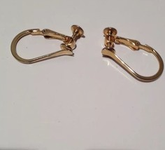 loop earrings gold tone Clip On with screw back - $24.99