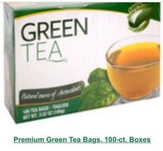 Set of 20: premium green tea bags 100 ct box - $64.99