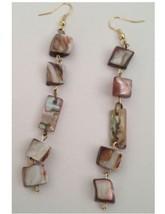 5 Stone Shell Earrings Pierced - $19.99