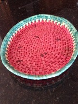 Watermelon Design Large Woven Serving Dish Red ... - $24.99