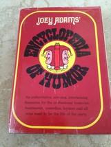 joey adams encyclopedia of humor hardcover  - $14.99