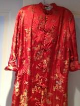 red satin robe - $199.99