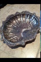 Silver Plate Shell Platter On Three Feet Needs Polishing - $299.99