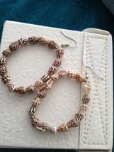 Beach shell natural toned dangling pierced loop earrings ...so pretty - $19.99