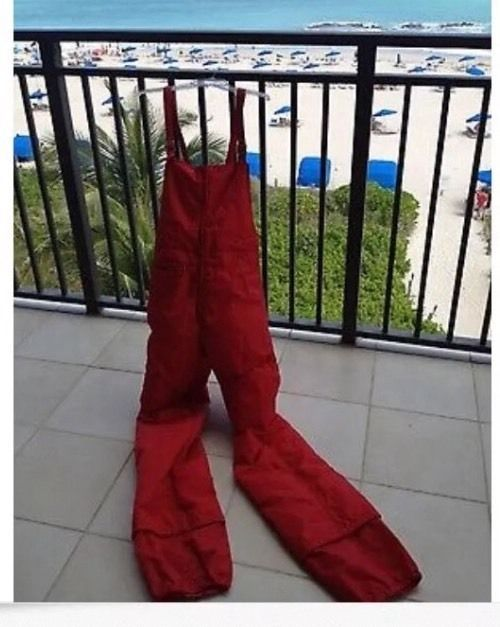 Red Snow Ski Bib Pants By Alpine Designs Size Large