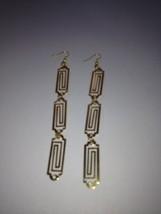 triple rectangle geometric design earrings pierced - $19.99
