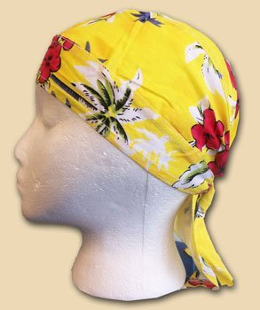 Tropical yellow ezdanna headwrap 10686