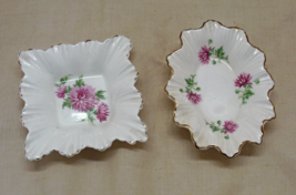 Two Vintage ADDERLY Bone China Trinket Dishes RING DISHES Pin Dishes - $12.00