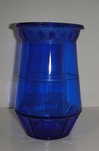 L.E. Smith Cobalt Blue Vase Depression Glass Ci... - $14.25