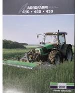 2009 Deutz-Fahr Agrofarm 410, 420, 430 Tractors Brochure - $8.00