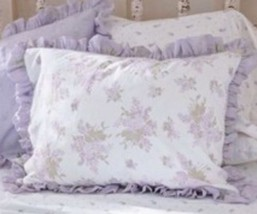 1 Simply Shabby Chic Lilac Rose King Pillow Sha... - $17.99