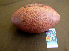 JIM BROWN CLEVELAND BROWNS HOF SIGNED AUTO BROWN LOGO FOOTBALL JSA  - $346.49