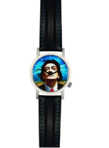 Salvador Dali Wristwatch Watch Mustache Persistence of Memory Leather Band New! image 2