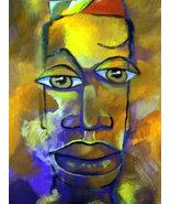 Original 24x36 African American Portrait Canvas Art Reproduction - $219.00