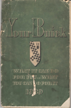 1939 Buick Owners Manual - $9.00