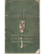 Buick Owners Manual 1939 - $5.95