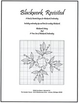 Blackwork Revisited cross stitch book The Sampler House  - $31.50