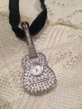 Vintage Reproduction Antique Necklace Guitar Watch - $42.08