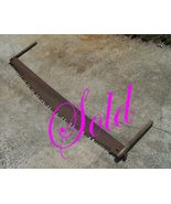 """Antique Crosscut Saw - Two Man - Lance Tooth - Felling Saw  71"""" long 6"""" ... - $185.00"""