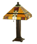 "Art Glass Tiffany Style Table Lamp 23.5""H - $405.00"
