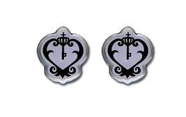 Black Butler Sebastian's Watch Emblem Earrings - $11.75