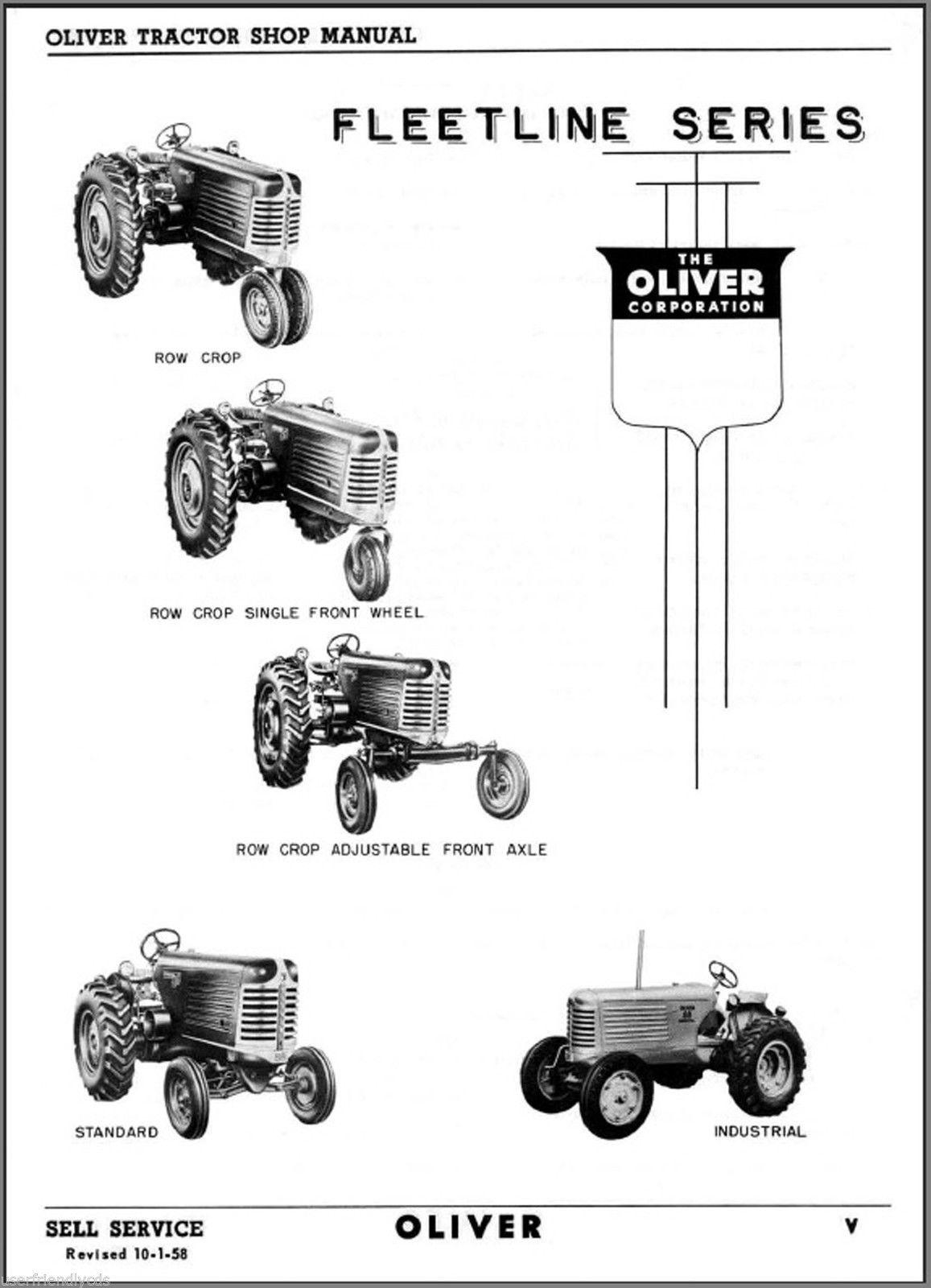 ... Oliver FLEETLINE 66 77 88 SUPER 55 66 77 88 SHOP SERVICE MANUAL -  SEARCHABLE DVD ...