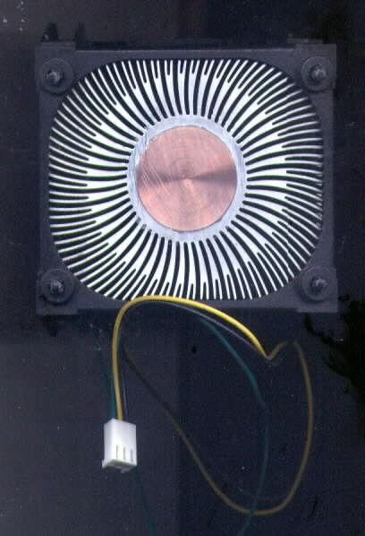 Intel Socket-478 Copper Core CPU HeatSink and Fan C91249-002 3 Pin+Bracket