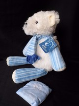 """Scentsy Buddy Pooki The Polar Bear 15"""" Blue White Scarf With Scent Pack - $28.37"""