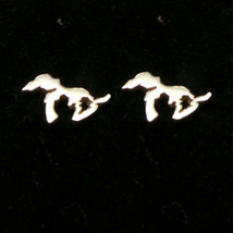 925 Handmade Stelring Silver Michigan Great Lakes Stud Earring Climber - $42.00