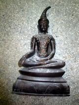 Very Rare! So Big Ancient Phra Ngang-Tadaeng Real Old Statue Thai Buddha Amulets - $799.99