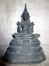 Very Rare! Ancient Phra Ratana Zong-Krueng Real Old Statue Thai Buddha Amulets - $49.99