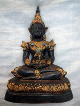Very Rare! Big Ancient Phra Kaew Rattana Zong-Kreung Statue Thai Buddha Amulets - $69.99