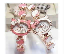 2016 Hello Kitty Watch Fashion Ladies Quart Kids Cartoon Wristwatches Gi... - $9.99