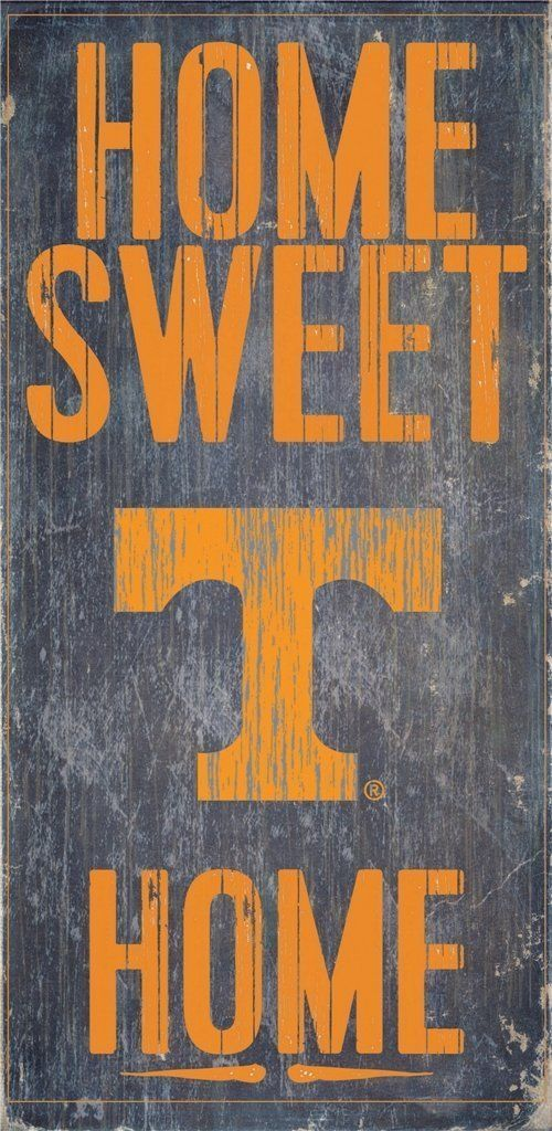 "TENNESSEE VOLUNTEERS HOME SWEET HOME WOOD SIGN and ROPE 12"" X 6""  NCAA MAN CAVE!"