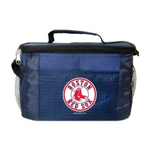 BOSTON RED SOX LUNCH TOTE 6 PK BEER SODA CAN TEAM LOGO KOOLER BAG MLB BA... - $20.47