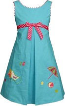 Bonnie Jean Little Girl 2T-6X Split Front Beach Scene Applique Dress